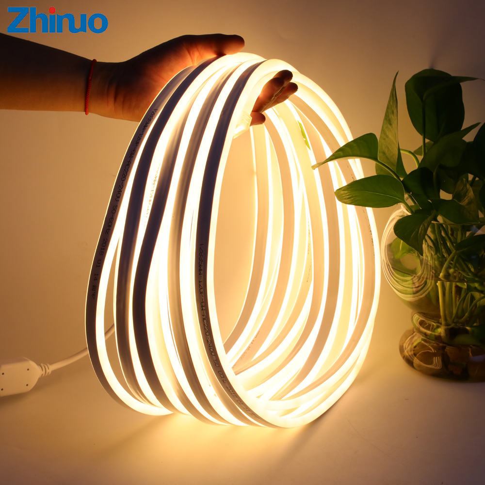 Led Strip Light 220V SMD2835 120Led m Waterproof Flexible Fairy Light Outdoor Home Christmas Festival Decoration Lighting Strips