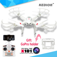 Professional Drones MJX X101 rc quadcopter RTF drone Headless mode 2.4G 4CH 6-Axis Gyro Quad copter can Add Wifi FPV Camera HD