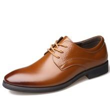 Man Leather footwear Brand mens Italian gown footwear Pointed toe trend formal designer enterprise flats Wedding male footwear males 515