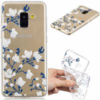 100pcs Case For Samsung Galaxy A8 2018 Cover for Samsung A8 2018 A530F Cover TPU Silicone Coque for Samsung Galaxy A8 Phone Case