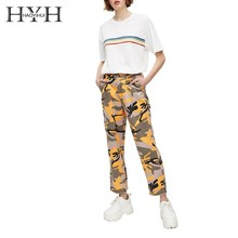 HYH Haoyihui Femme Summer Stylish Casual Tops Girls Simple Cute Contrast Colour Stripe Printed Round Neck Short Sleeves T-shirts coffee printed round neck short sleeves t shirts