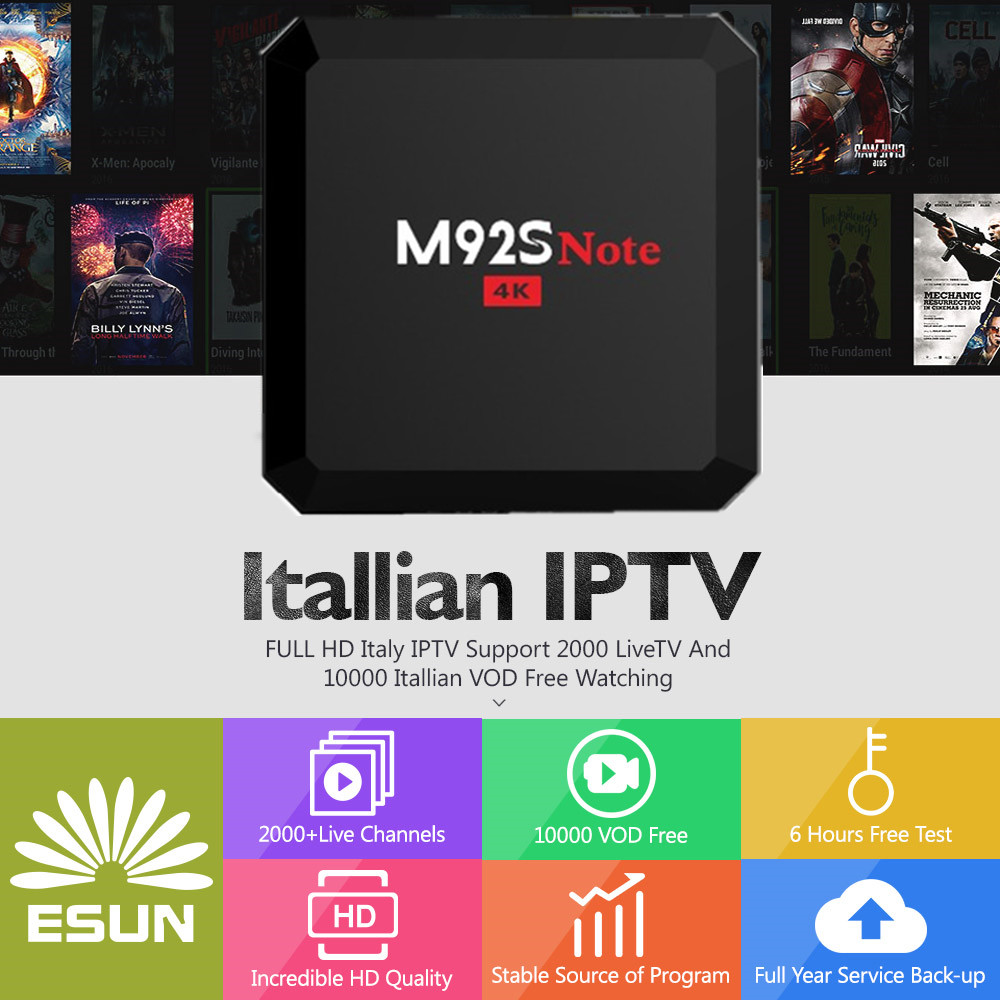 Tv Receivers 1 Year Italy Iptv Included M92s Note S912 4g/32g Italy Iptv Epg 4000+live+vod Configured Europe Albania Ex-yu Xxx Channels Box Vivid And Great In Style Consumer Electronics