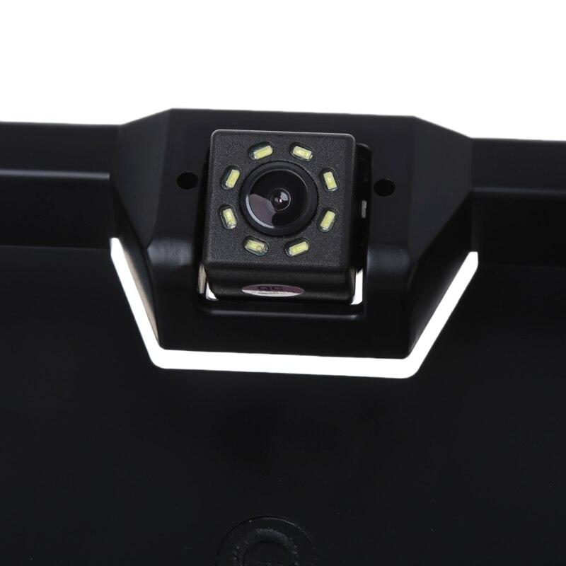8 LED COCHE Auto europeo reserva placa trasera marco Parque inversa ...