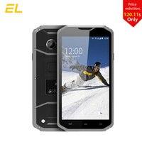 E & L W8 robusto smartphone 5.5 pulgadas HD IPS MTK6753 octa Core teléfonos dual sim 3000 mAh teléfono impermeable 4G táctil teléfono móvil de China