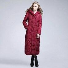 Мода зима женщины ultra light пуховик parka манто femme толстые теплые Длинный пуховик и пальто куртки plumas mujer