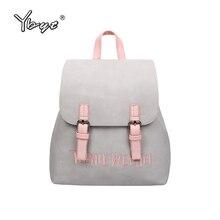 Ybyt брендовая Новинка 2017 Малый Простой и стильный твердой рюкзак кольцо Женщины покупки packagse дамы известный дизайнер дорожные сумки