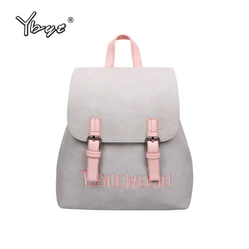 YBYT brand 2018 new small simple and stylish solid rucksack hotsale women shopping packagse ladies famous designer travel bags ybyt brand 2017 new fashion simple solid zipper long women standard wallets hotsale ladies pu leather coin purses card package