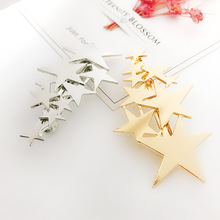 1pc Girls Star Metal Hairpins Gold/Silver  Barrette Hair Clips Women Romantic Wedding Bridal Pentacle Hair Styling Accessories new arrival girls women hair accessories big pearls hairpins party hair clips barrette wedding bridal hairpins romantic jewelry