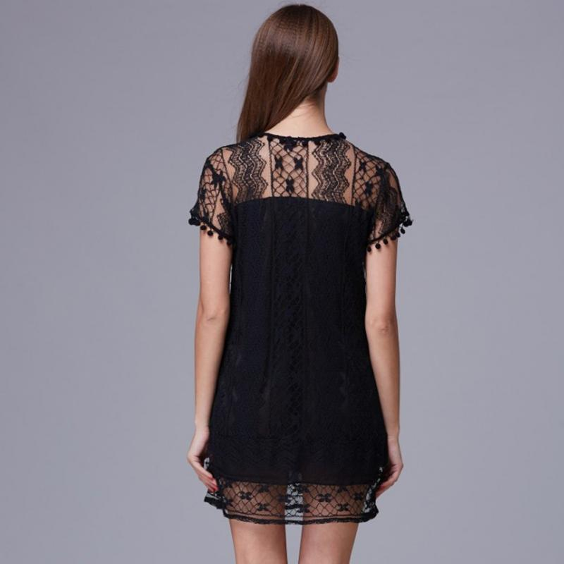 White lace sleeveless dress Plus Size 2