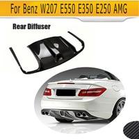 Carbon Fiber car Rear Diffuser Lip Spoiler for Mercedes Benz W207 C207 Coupe 2 Door E63 AMG Only Convertible 09 12 Black FRP