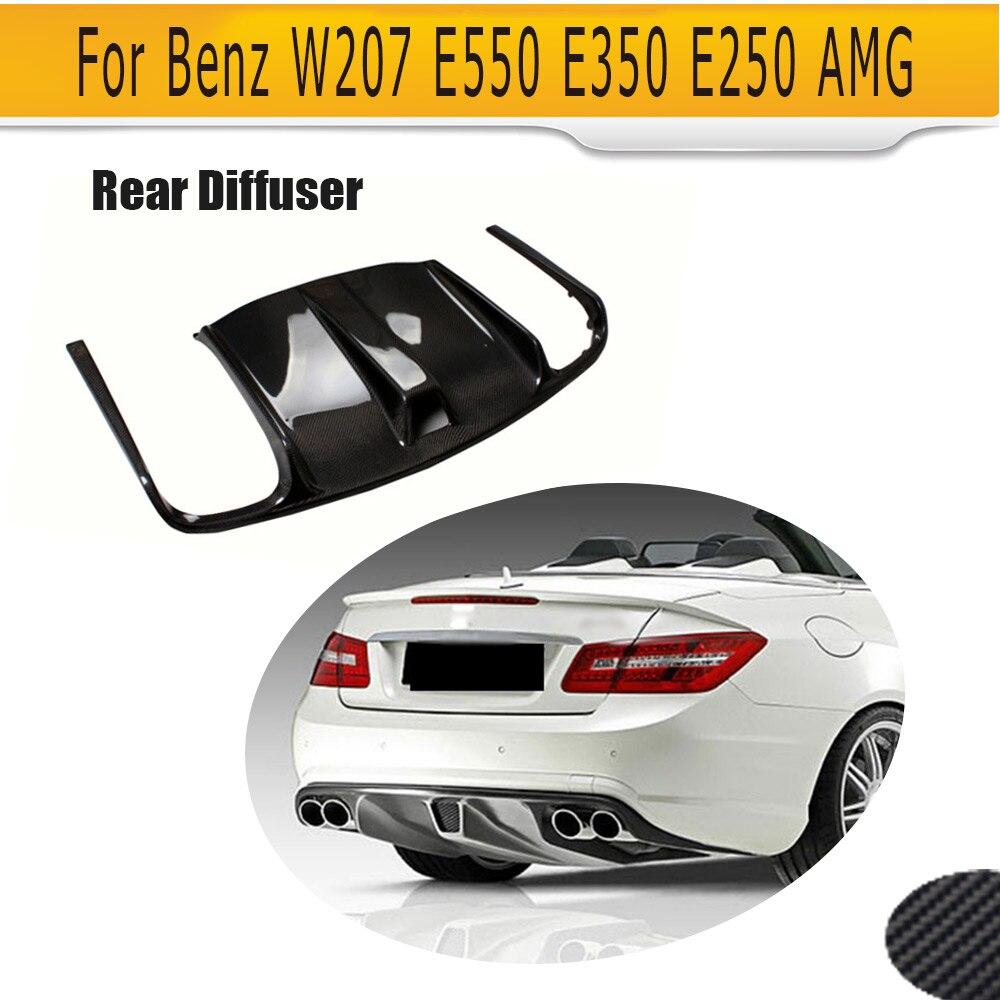 Voiture De Fiber de carbone Diffuseur Arrière Lip Spoiler pour Mercedes Benz W207 C207 Coupé 2 Porte E63 AMG Seulement Convertible 2009 -2012 Noir FRP