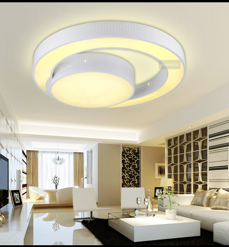 30W 45CM Modern Ceiling Light Brief Circle Q Shape For Living Room Bedroom 85 260Vac In Lights From Lighting On