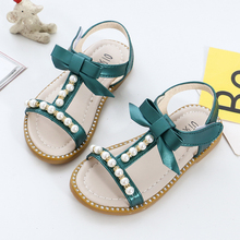 2019 Baby Girls Summer Shoes Girls Sandals Flip Flops Kids Beach Sandals Baby Girls Princess Pearl Beading Shoes With Bow