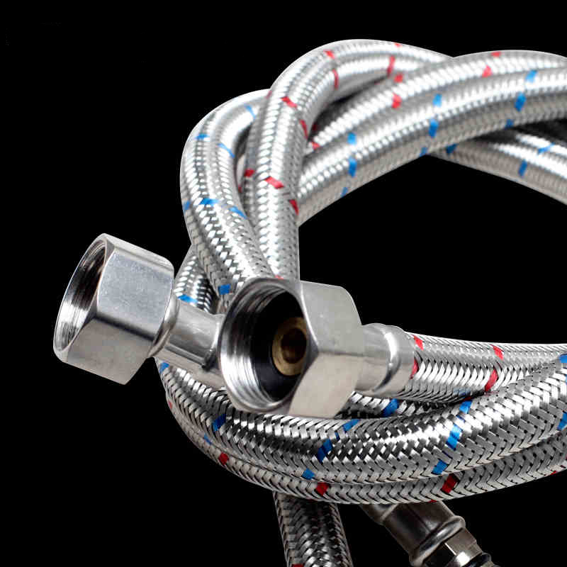 Plumbing Hoses 3/8\'\' 60cm Stainless Steel Two Hot Cold Water Mixer ...