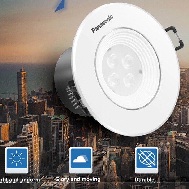 Япония Panasonic светодиодные прожекторы 4 Вт полный набор противотуманных прожекторов мастерство отверстия 7 8 см потолочные отверстия утолщен