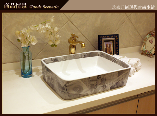 Lavello Bagno Angolare : Porcellana guardaroba rettangolare lavabo lavello del vaso bagno