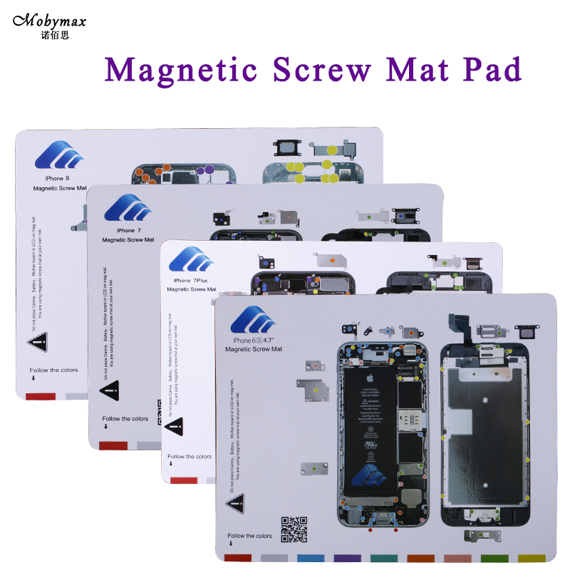 Magnetic Screw Mat For iPhone X 8 7 6S plus LCD Screen Opening Tools Professional Repair Work Pad with Screw Location for 7plus