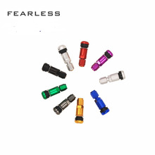 цена 4pcs Car Tyre Valve Caps Motorcycle Wheel Tire Air Valve Cap Hex Dust Cover Aluminum Metal Bolt in Tyre Ventil Valve Stems & Cap онлайн в 2017 году