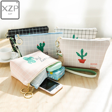 XZP Cute Portable Travel Cosmetic Bag Women Make Up Bag Zipper Makeup Organizer Plant Storage Pouch Toiletry Wash Beauty Box все цены