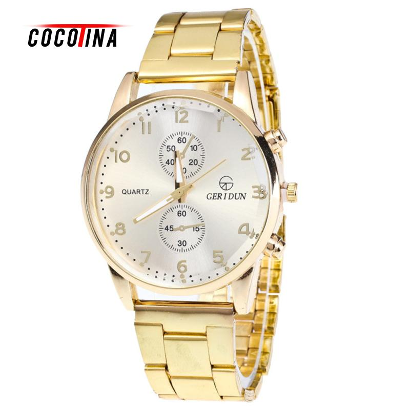 COCOTINA Luxury Outlook Mens Gold Watches Diamond Dial Gold Steel Analog Quartz Wrist Watch For Business Sports LSB5175 все цены