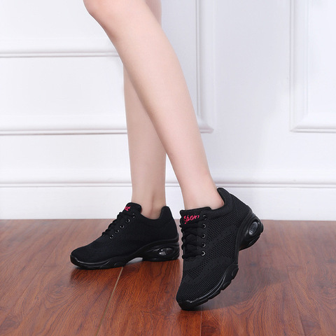 Sneakers Airbag Bottom Square Dance Shoes Sports Adult Fitness Shoes Modern Dance Fabric Women Shoes Dance Sports Ladies Shoes Lahore
