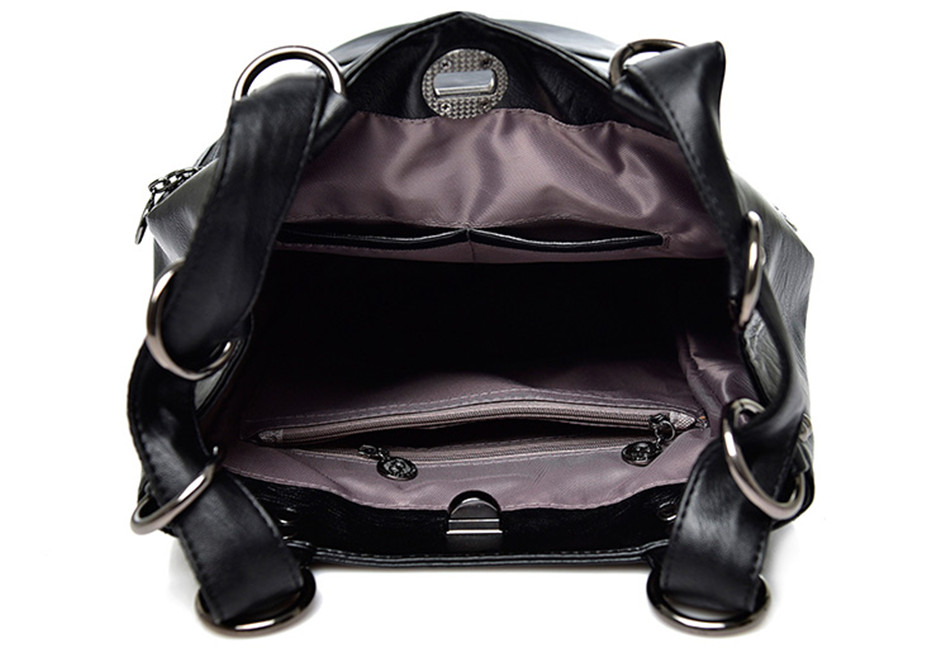Women's Leather Backpack Travel Bag (TBB02)