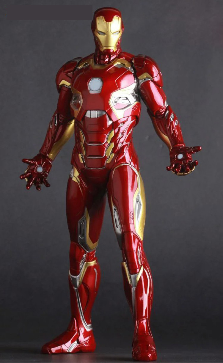 Iron Man Mark XLV MK45 1/6 scale painted PVC Action Figure Collectible Model Toy 12 30cm KT2273 1 6 scale 30cm the avengers captain america civil war iron man mark xlv mk 45 resin starue action figure collectible model toy