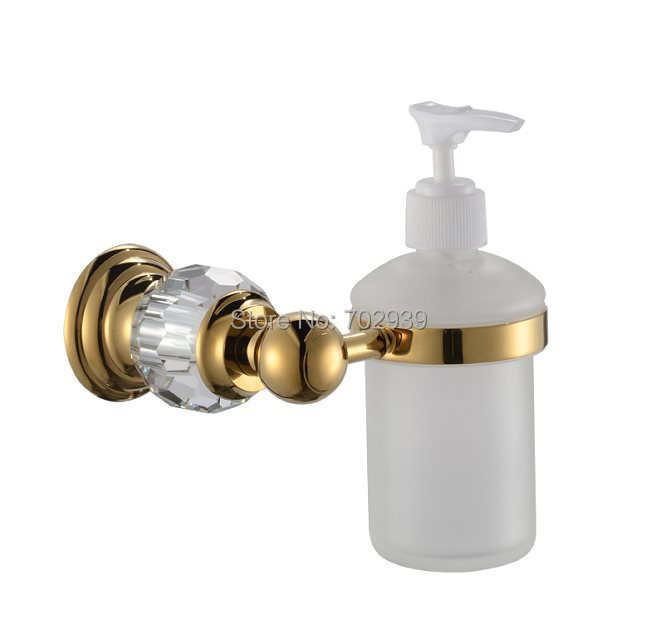 FREE SHIPPING new design 24k GOLD Crystal liquid soap dispenser