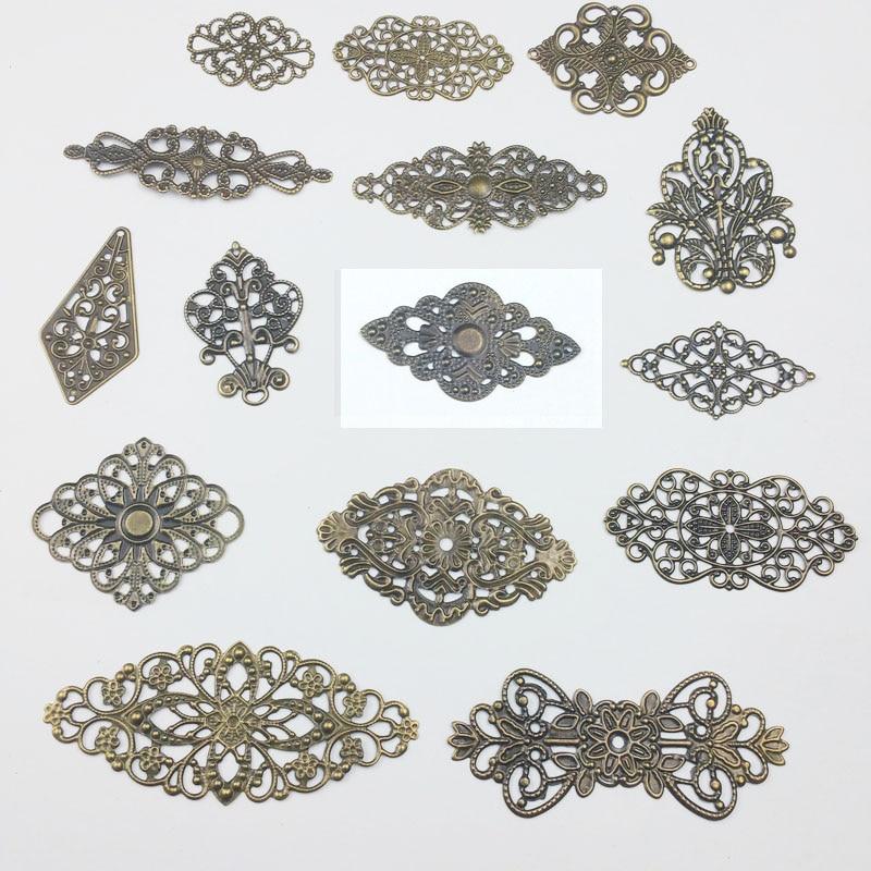 Filigree  Wraps Metal Charms For Embellishment Scrapbook DIY Jewelry Metal Craft  Wraps