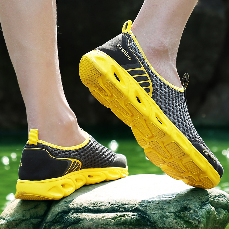Men Casual Shoes Sneakers Fashion Light Breathable Summer Sandals Outdoor Beach Vacation Mesh Shoes Zapatos De Men Casual Shoes Sneakers Fashion Light Breathable Summer Sandals Outdoor Beach Vacation Mesh Shoes Zapatos De Hombre Men Shoes