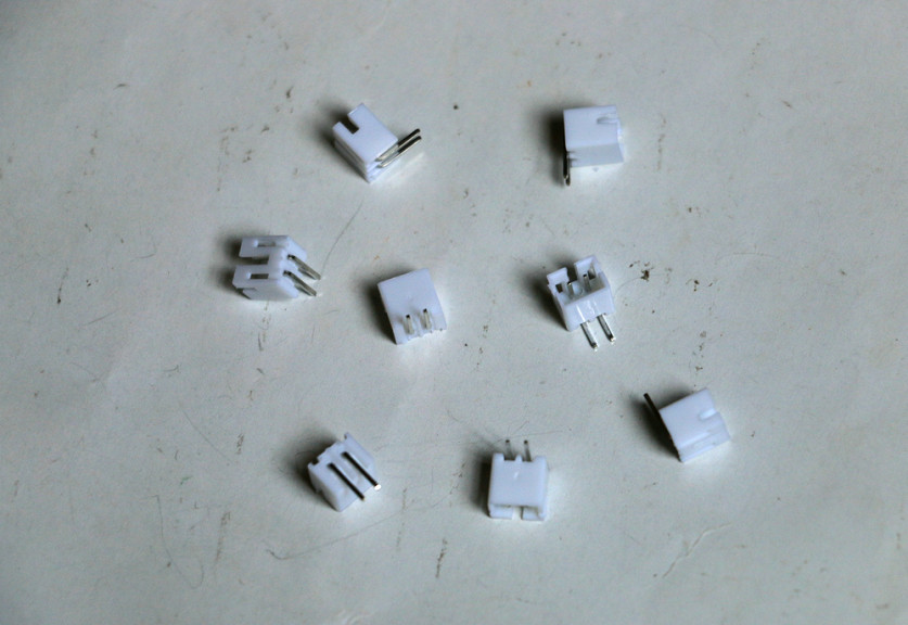 100 pcs White 2 pin PH-2.0 male L shaped 90 degree right Supplies socket connector terminals 2P Adapter plug pitch 2.0mm NEW