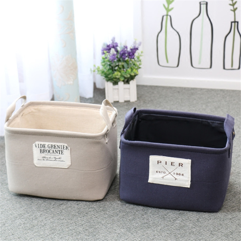 Double Layer Thickness Storage Basket Makeup Desktop Storage Box Laundry Basket/Bags for Toys Dirty Clothes Sundries Organizer