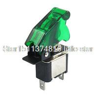 Green Cap LED Light 2 Position 3 Terminals 12V ON OFF Toggle Switch