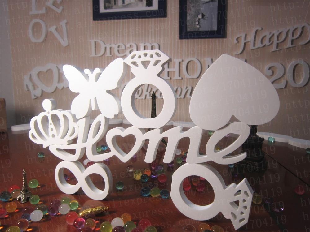 Nyaste Väggdekoration Konstgjorda träbokstäver bröllopsdekoration - Heminredning - Foto 6