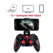 Wireless Joystick Bluetooth 3.0 Gamepad Gaming Controller Gaming Remote Control untuk Tablet PC Android Smartphone Dengan Holder