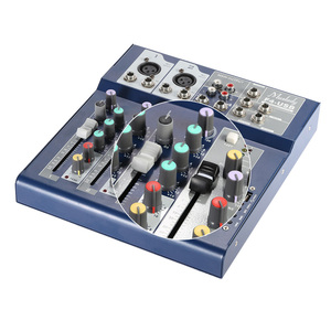 Image 5 - Muslady F4 Professional 4 Channel Digital Mic Line Audio Sound Mixer Mixing Console with USB Input 48V Phantom Power