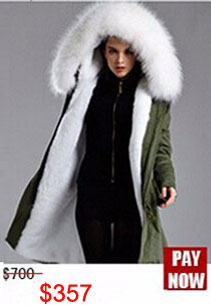 Factory wholesale price Women's Vintage Retro Fur Hooded Military Parka Jacket Coat with pink lined and collar fur mr 23