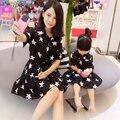 2016 Весна Соответствующие Мать Дочь Платья Одежды Семьи Звезда Печатных Мама И Дочь Платье Соответствия Мать Дочь Одежда