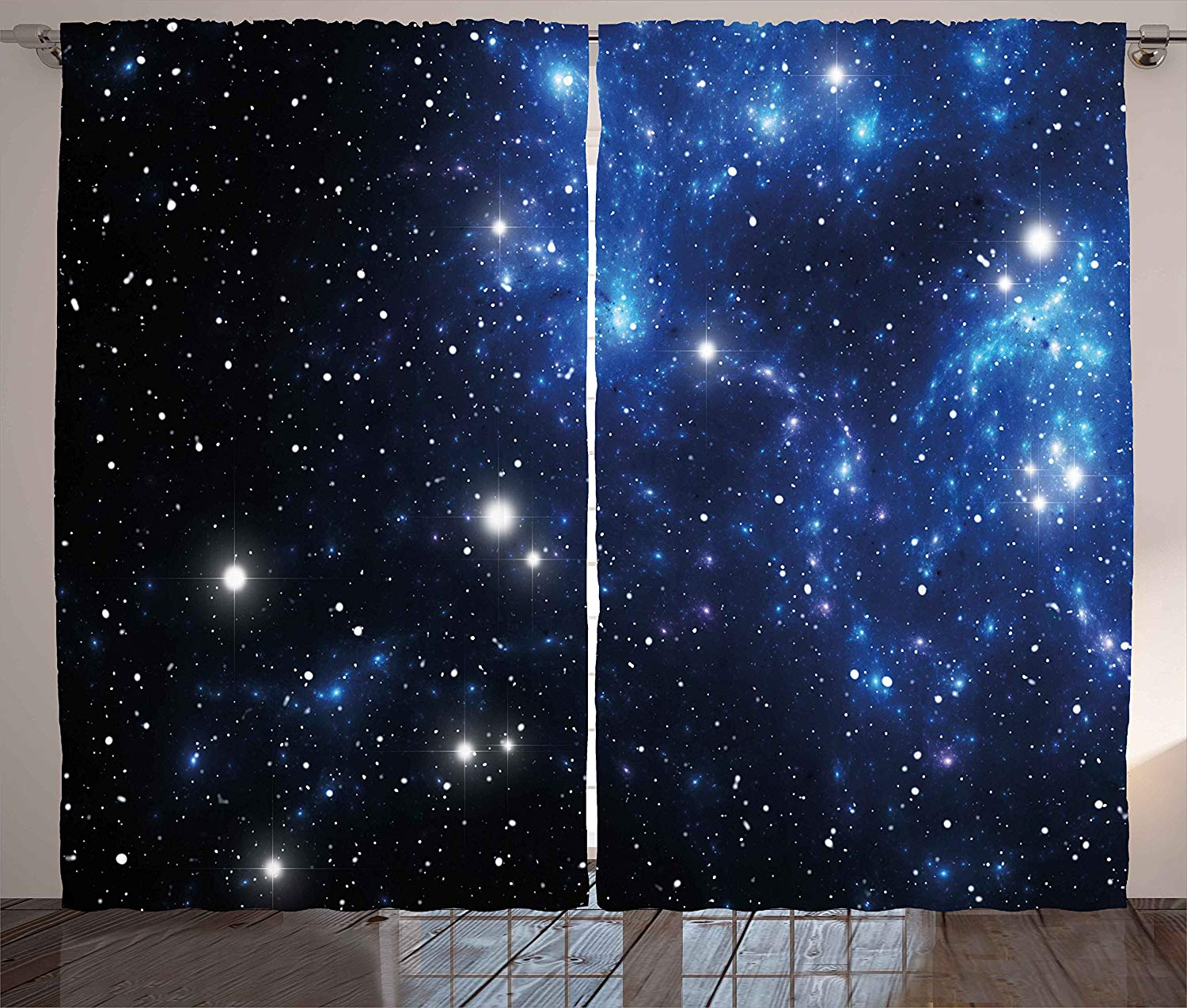 Constellation Curtains Outer Space Star Nebula Astral Cluster Astronomy Theme Galaxy Mystery Living Room Bedroom Window Drapes