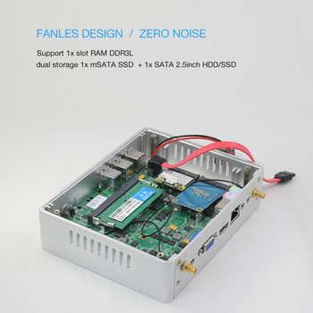 Fanless Mini PC Core i3 5005U i5 4210Y Pentium 4405U Windows 10 Mini Computer Desktop WIFI HDMI 6*USB HTPC HD Graghics 510