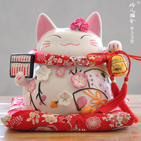 Lucky Cat Gold Ornaments Ceramic Genuine Japanese Lucky Cat Large Piggy Piggy Bank Business Gifts