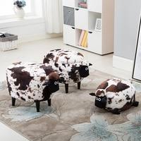 Hot Sale Storage Box Organizer Organizador Stool Wood Dresser Household Sofa Washable Sheep Europe 150 Kg Polygon Sundries 2