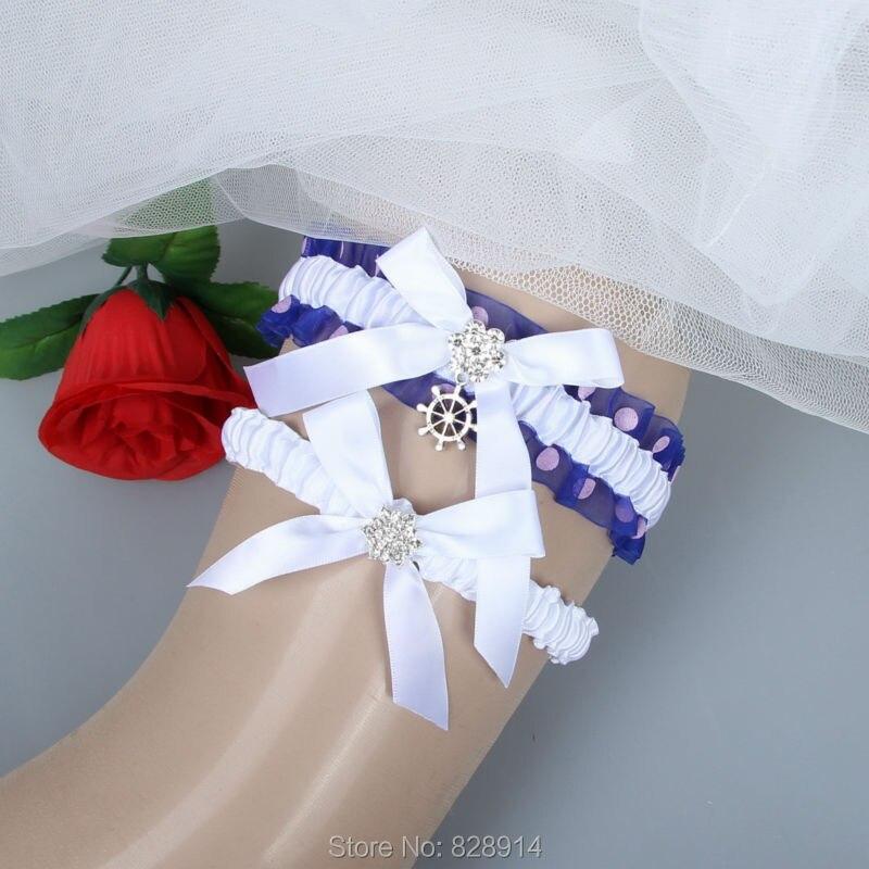 New Original Design White Ribbon Elastic Wedding Garter