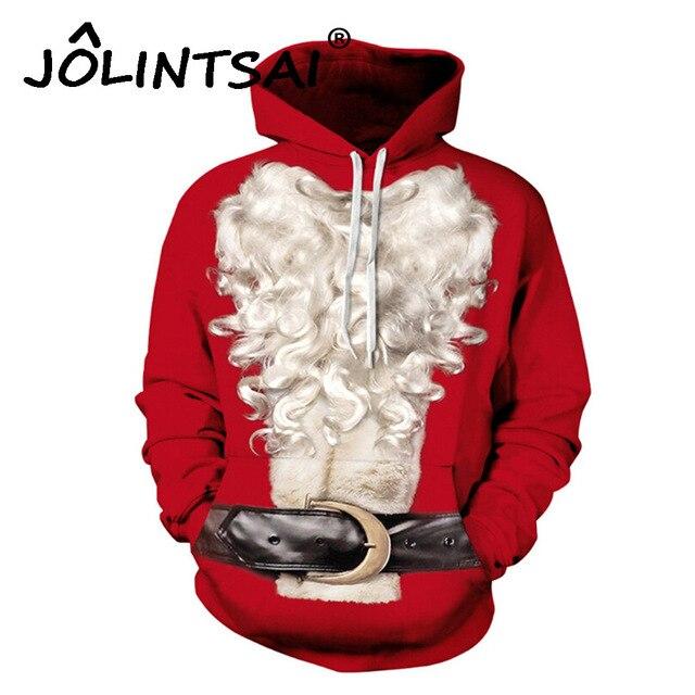 gift for menwomen spoof funny christmas hoodies men sweatshirts tracksuit men moustache patchwork pullover - Christmas Hoodie