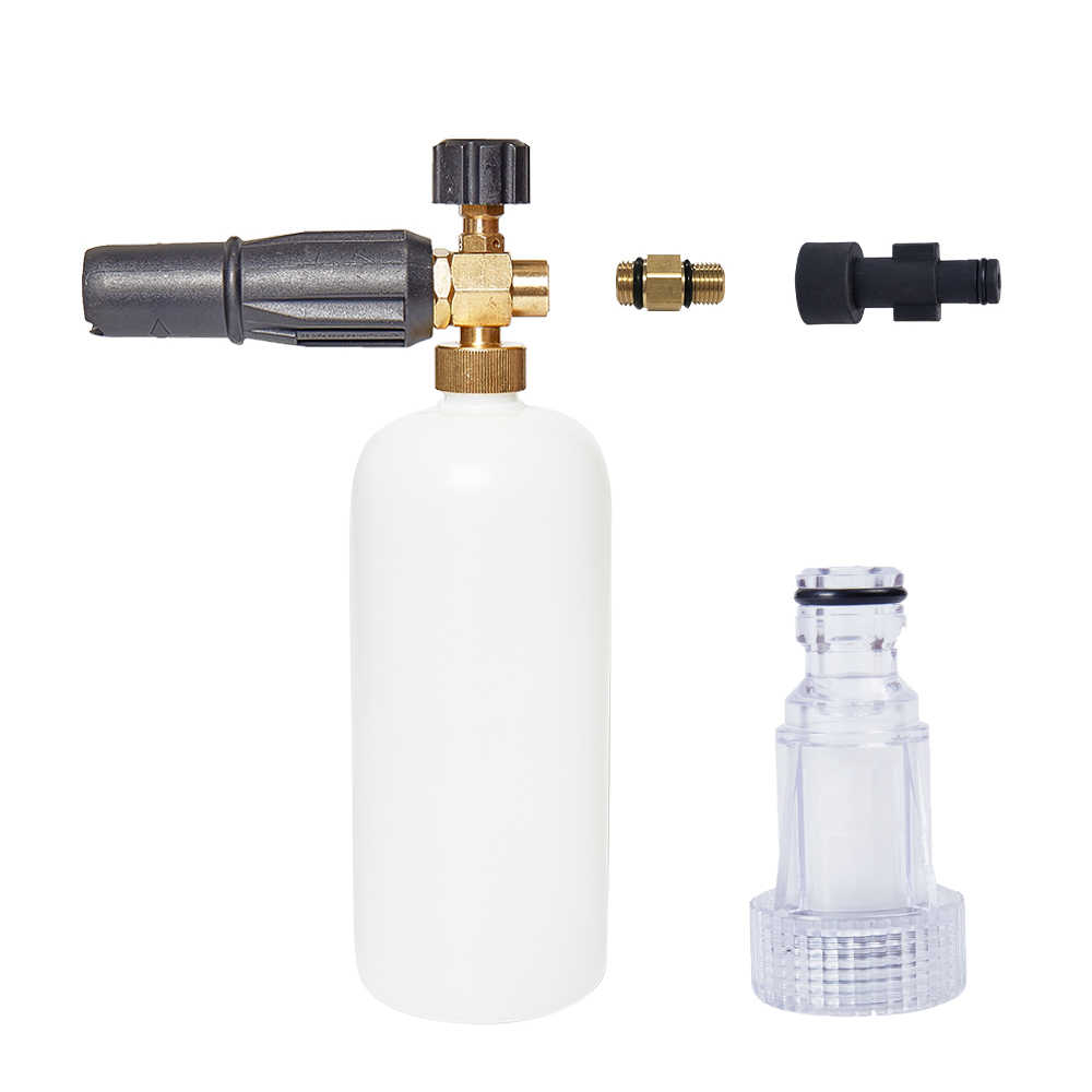 Snow Foam Gun High Pressure Washing Gun 1L Foam Generator Spray Gun for Elitech Car Washer & 1PC Water Filter Cleaning Tools