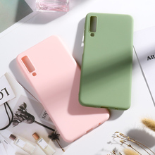 Sfor Samsung Galaxy A7 2018 Case Coque Candy Color Soft Silicone Back Cover On for Samsung A7 2018 SM-A750F A750F A 7 Bumper цены онлайн