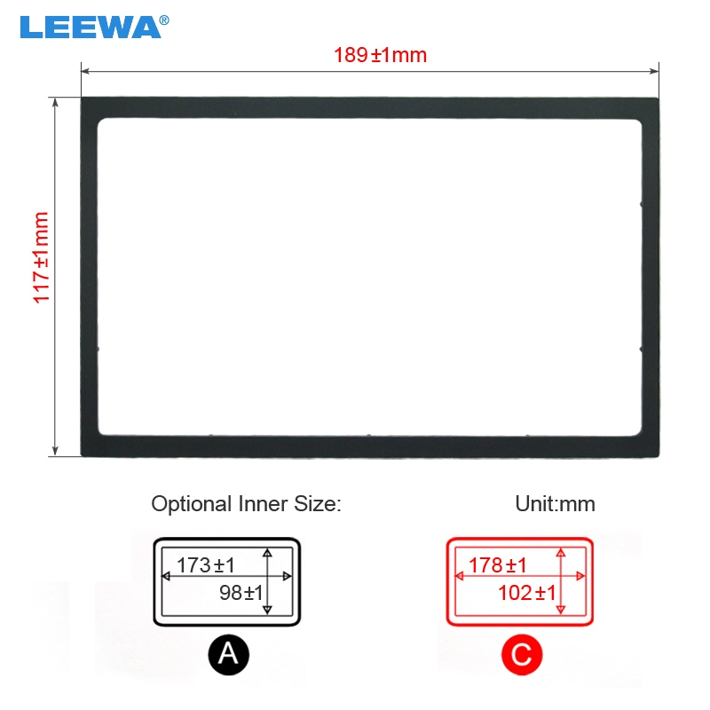 LEEWA Car <font><b>Radio</b></font> Stereo Fascia Panel Frame Adapter Fitting Kit For <font><b>Volvo</b></font> <font><b>S40</b></font>(1995~2004) #CA4405Y image