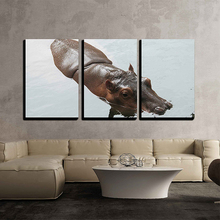 Hippopotamus Animal Diamond Painting 3pcs Embroidery Beaded Cross Stitch Needlework Wall Decor