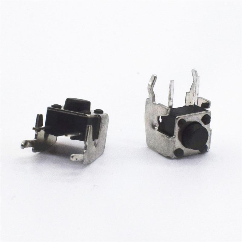 100pcs DIP 6*6*5mm Tactile Tact Push Button Micro Switch Momentary Vertical Push 6x6x5mm 20pcs tactile push button switch momentary tact 12 12 5mm 12x12x5mm smd