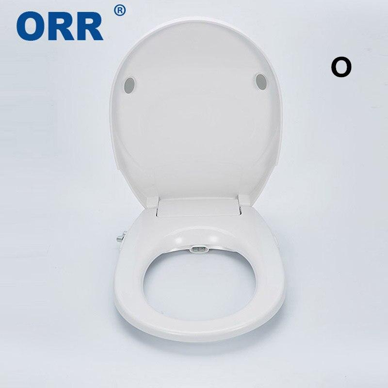 Non-Electric Double Toilet Bidet Seat Cover Plastic Shattaf Bathroom Bidet Attachment Ass Buttocks Washing ORR